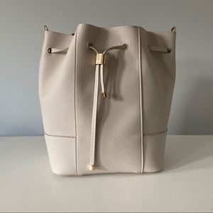 Zara Creamy White Bucket Bag